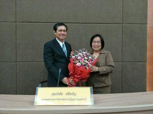 นายกสภามหาวิทยาลัย ฯ ได้แสดงความยินดีกับ ศ.ดร.ชุติมา สัจจานันท์